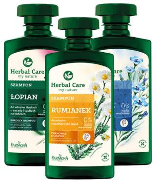 HERBAL CARE szampony ziołowe