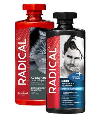 RADICAL linia do włosów z łupieżem