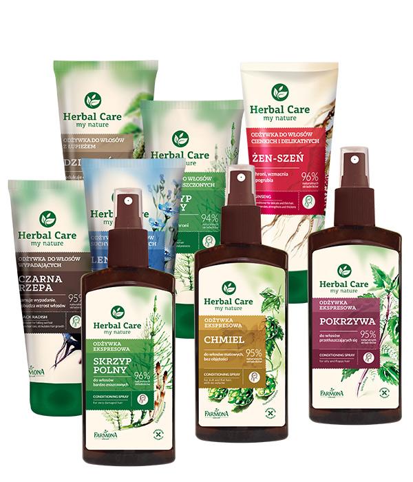 Herbal Care odżywki ziołowe do włosów - Pielęgnacja włosów