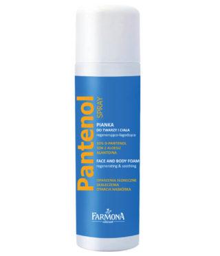 Pantenol Pianka do twarzy i ciała regenerująco-łagodząca