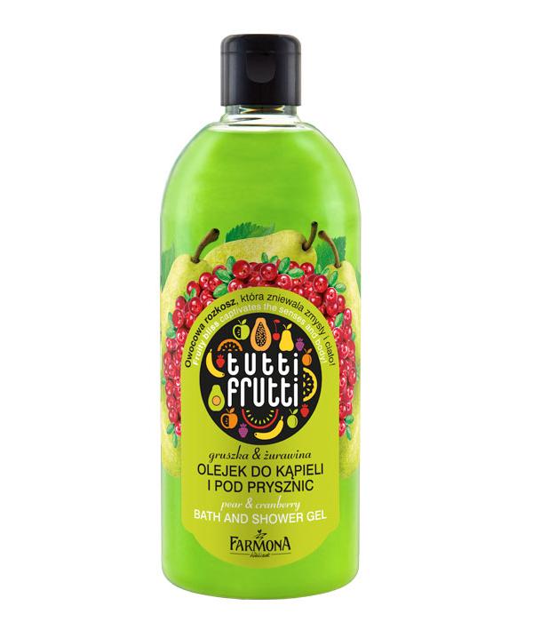 Olejek do kąpieli i pod prysznic gruszka&żurawina Tutti Frutti