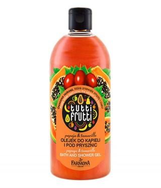Olejek do kąpieli i pod prysznic Tutti Frutti papaja&tamarillo