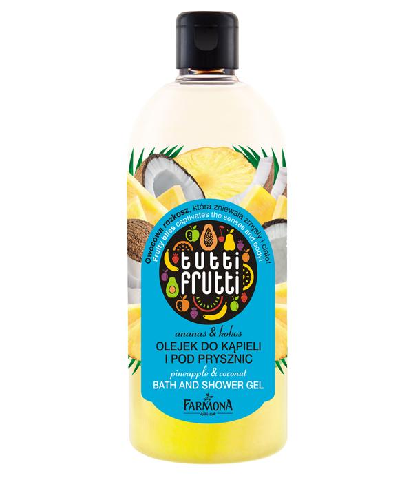 Ananas & Kokos olejek do kąpieli i pod prysznic Tutti Frutti
