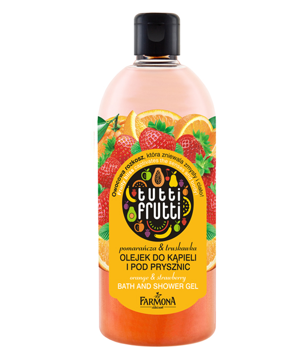 Olejek do kąpieli Tutti Frutti truskawka i pomarańcza