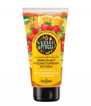 Orange&Strawberry moisturizing sugar body scrub Tutti Frutti