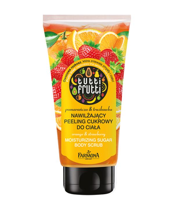 Orange&Strawberry moisturizing sugar body scrub Tutti Frutti