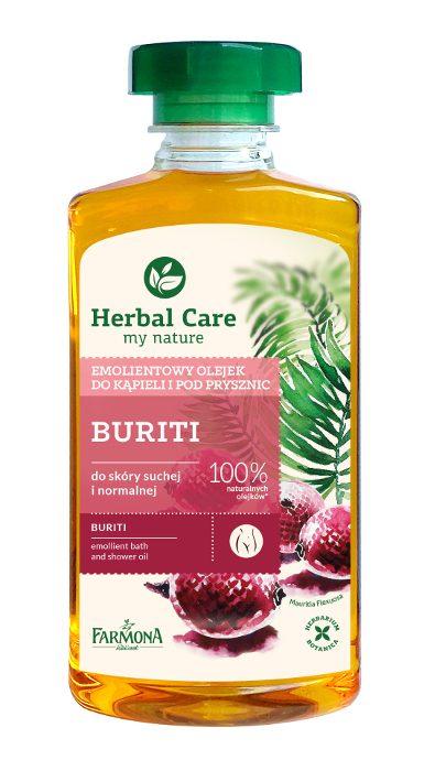 Natłuszczający olejek do kąpieli i pod prysznic Buriti od Herbal Care