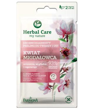 Drobnoziarnisty peeling do twarzy i ust Kwiat Migdałowca Herbal Care