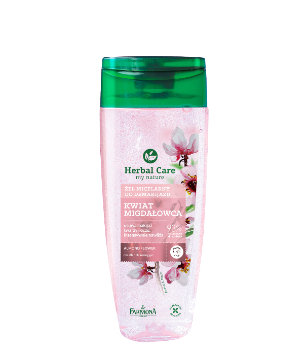 ALMOND FLOWER MICELLAR GEL removes face & eyes make-up, intensely hydrates