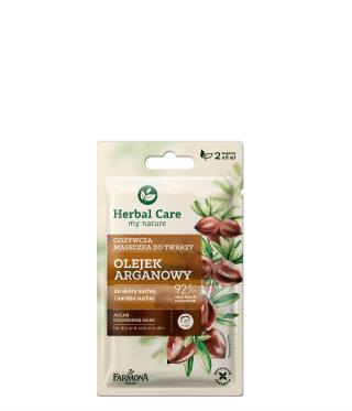 maseczka do twarzy olejek arganowy herbal care