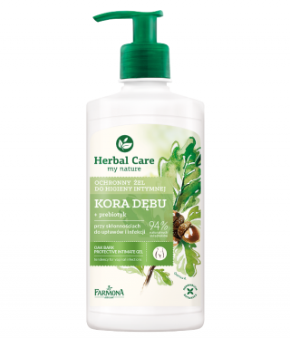 zel do higieny intymnej kora debu herbal care