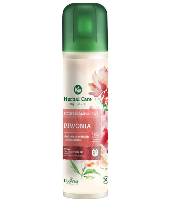 Suchy szampon 2w1 PIWONIA Herbal Care