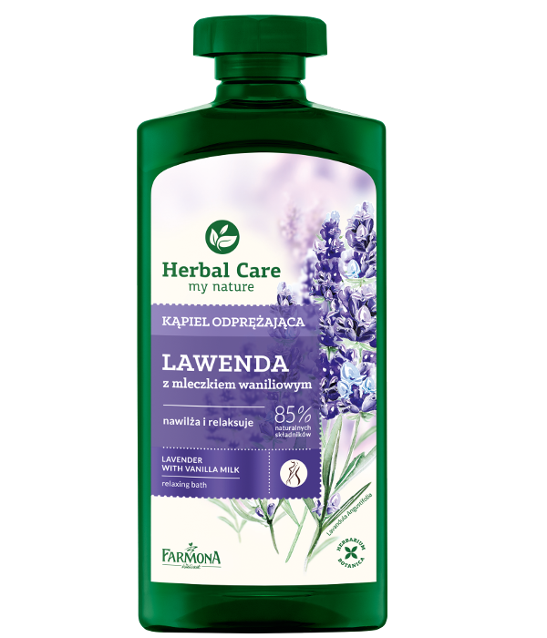 Lavender with vanilla milk relaxing bath hydrates and relaxes