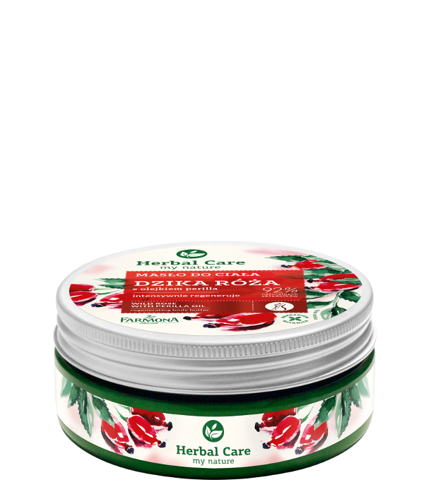 Wild rose with perilla oil regenerates body butter - Herbal Care