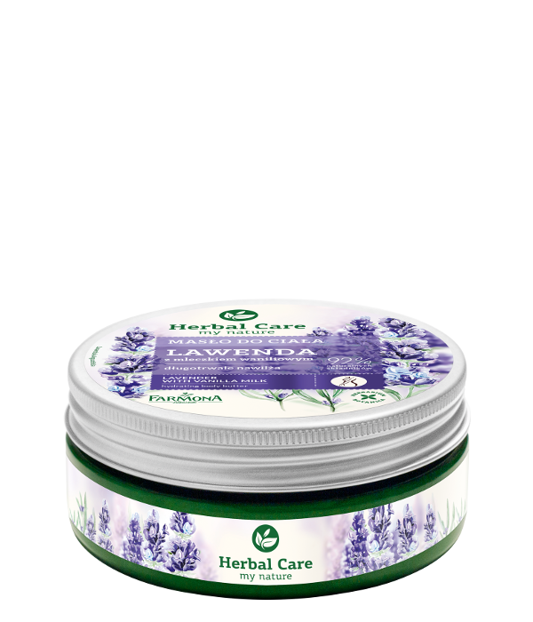 Lavender with vanilla milk hydrates body butter