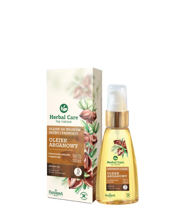 olejek arganowy do włosów, skóry i paznokci herbal care