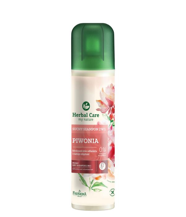 suchy szampon 2w1 piwonia od herbal care