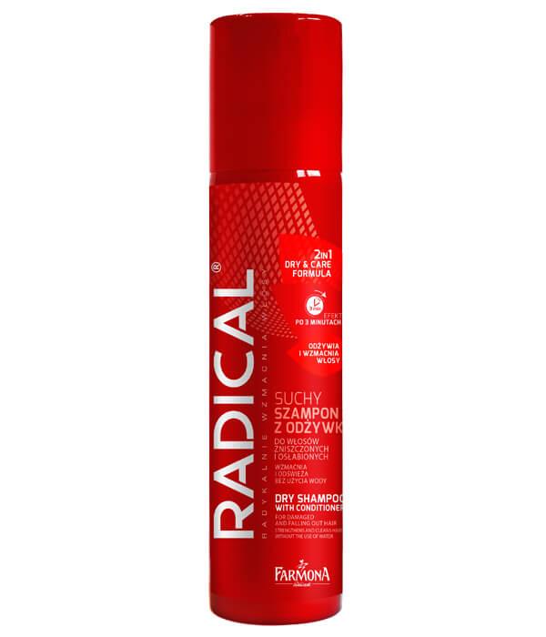 Suchy szampon z odżywką do włosów zniszczonych i osłabionych 2w1 FORMUŁA WZMACNIAJĄCA