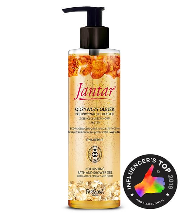 Odżywczy olejek pod prysznic i do kąpieli z bursztynem i złotem