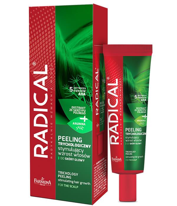 Peeling trychologiczny stymulujący wzrost włosów do skóry głowy