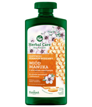 Odżywczy szampon rodzinny Miód Manuka
