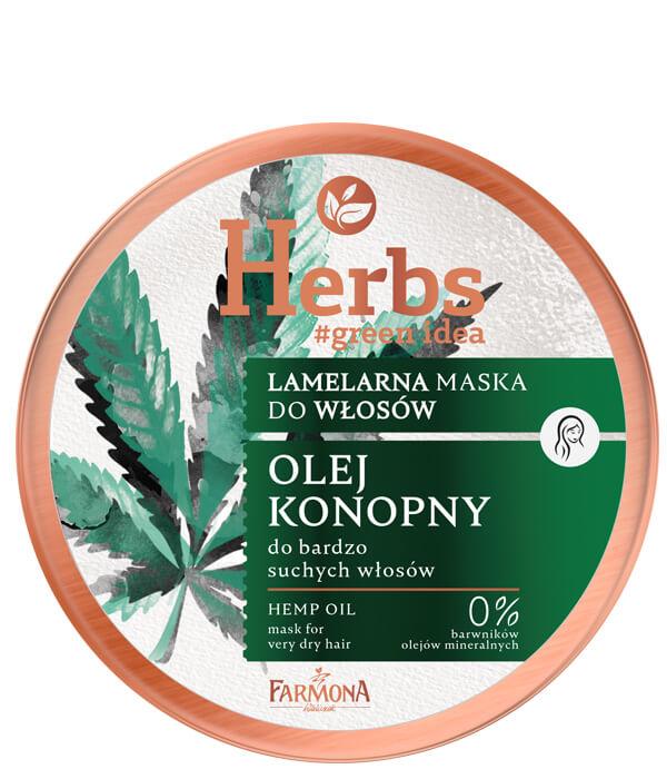 Lamelarna maska Olej Konopny do bardzo suchych włosów