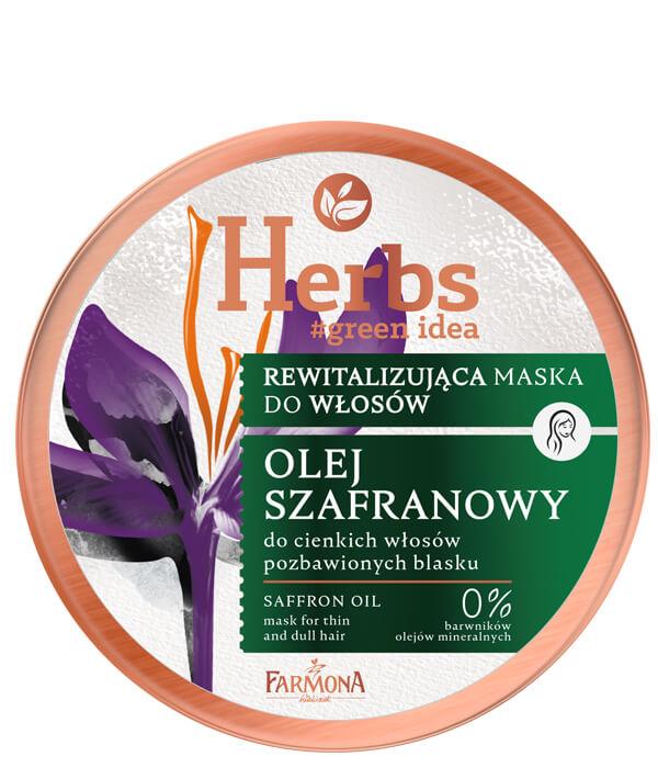 Rewitalizująca maska Olej Szafranowy do cienkich i pozbawionych blasku włosów