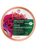 Keratynowa maska Olej Amarantusowy do normalnych i suchych włosów