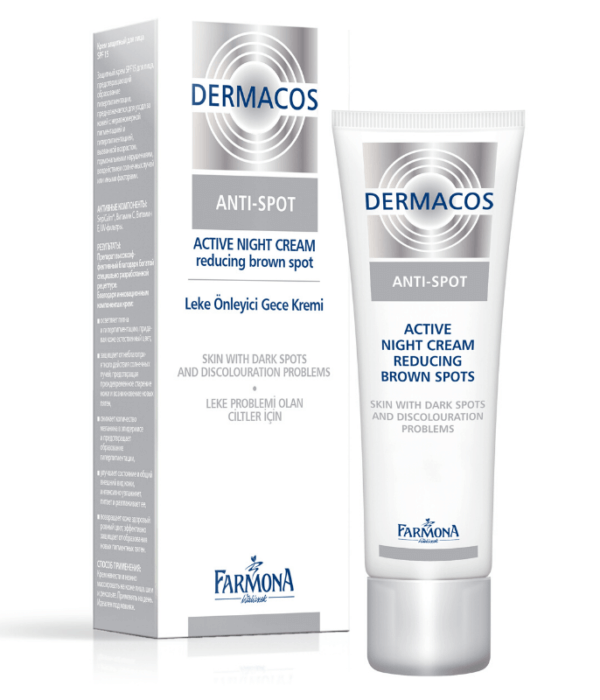 DERMACOS ANTI-SPOT Active night cream reducing brown spots