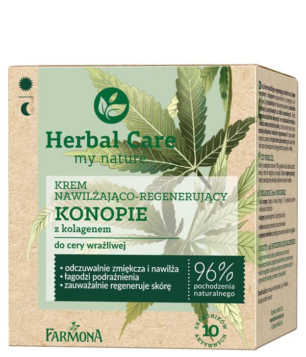 Herbal Care Krem nawilżająco- regenerujący KONOPIE z kolagenem