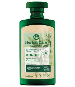 Herbal Care Regenerujący szampon KONOPIE z proteinami, 330ml
