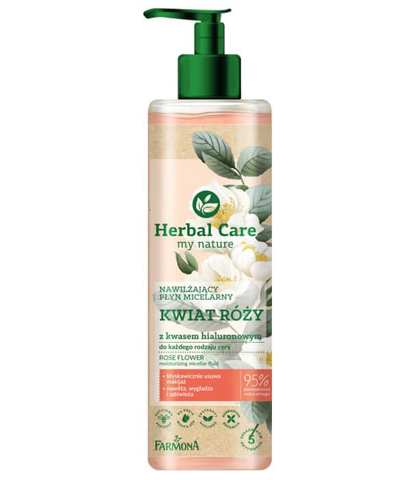 Herbal Care Nawilżający płyn micelarny KWIAT RÓŻY z kwasem hialuronowym