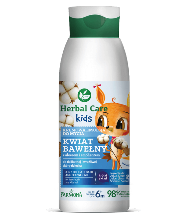 HERBAL CARE Kids Kremowa emulsja do mycia 400ml