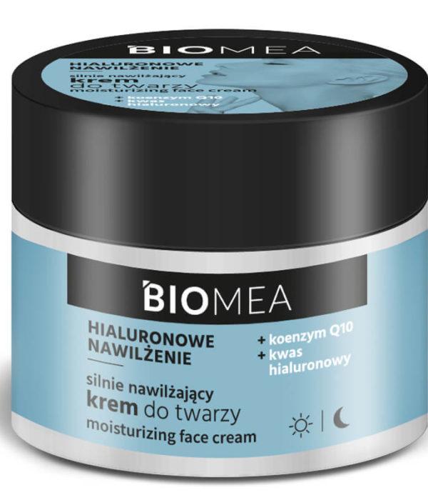 BIOMEA krem nawilżający do twarzy na dzień i na noc koenzym Q10+kwas hialuronowy