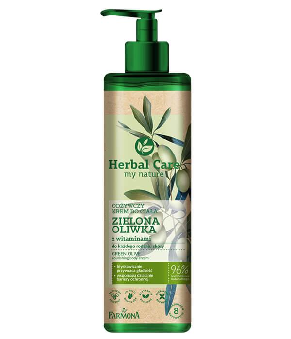 Herbal Care Odżywczy krem do ciała ZIELONA OLIWKA z witaminami