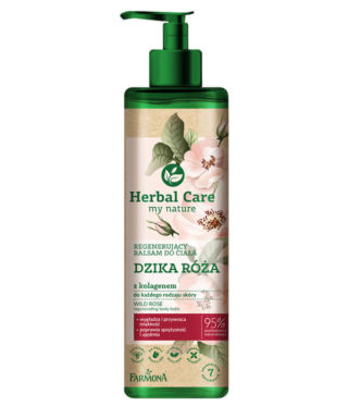 Herbal Care Regenerujący balsam do ciała DZIKA RÓŻA z kolagenem
