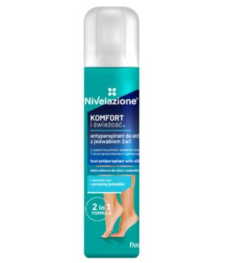 NIVELAZIONE Antyperspirant do stóp z jedwabiem 2w1, 180 ml