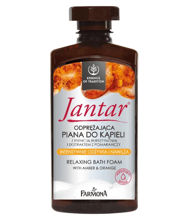 JANTAR Odprężająca piana do kąpieli z esencją bursztynową i ekstraktem z pomarańczy 330 ml